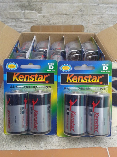 pila bateria alkalinas tipo d  kenstar 1.5 v (par)