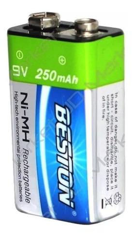 pila / batería cuadrada recargable de 9v beston bst-9v