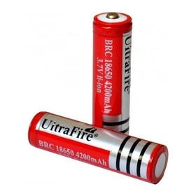 Pila Bateria De Litio Recargable 18650 Linternas Tactica De 3.7v De 4200 Mah Li-ion Oferta No Es Aa
