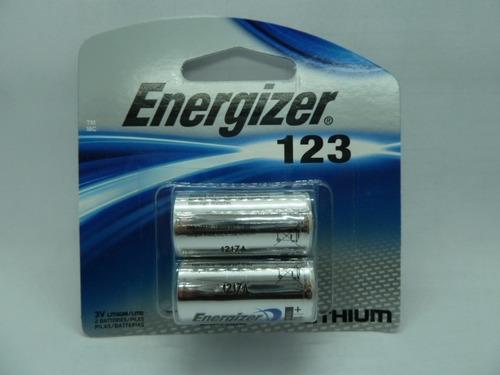 pila / batería energizer blister 123 de 2 und  litium 3v