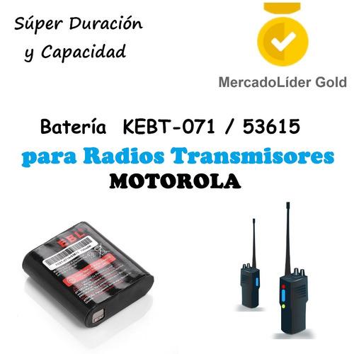 pila | bateria kebt-071 / 53615 | 3.6v | radios motorola