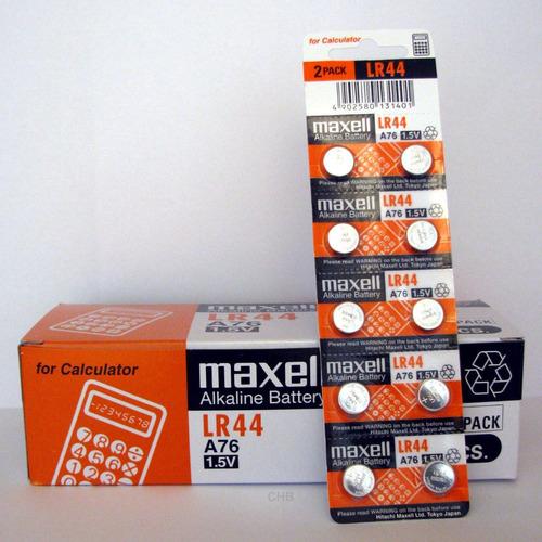 pila batería maxell lr44 a76 blister de 10, vencimiento 2020