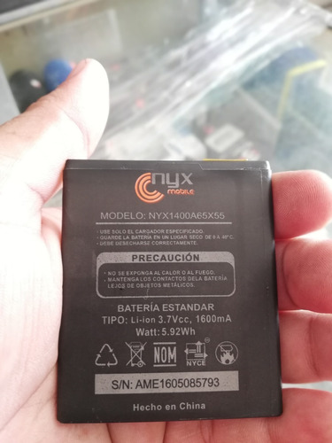 pila bateria nyx  nyx1400a65x55