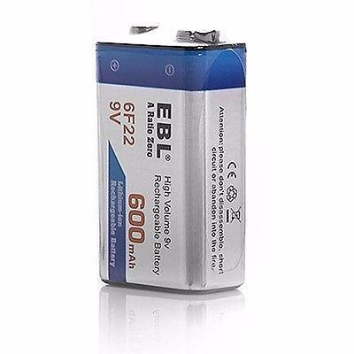pila bateria recargable 9v 600mah lithium marca ebl