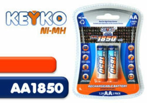 pila batería recargable aa 1850ni-mh keyko,tienda física