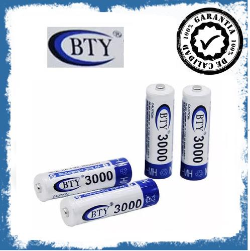 pila bateria recargable aa marca bty 3000 mah ni mh 1.2v sky