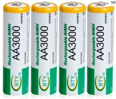 pila bateria recargable aa nimh 3000mah blister con 4