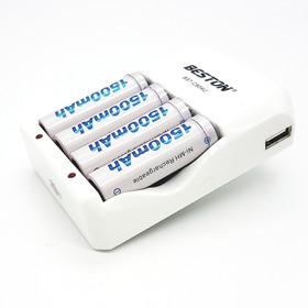 Pila Bateria Recargable Aa X4 1500mah Cargador Beston