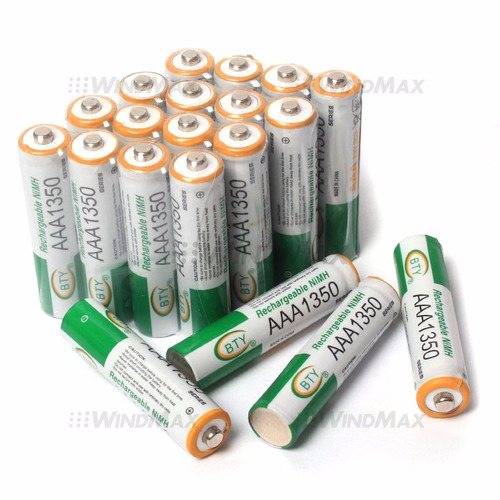 pila bateria recargable aaa 1350mah ni mh 1.2v marca bty