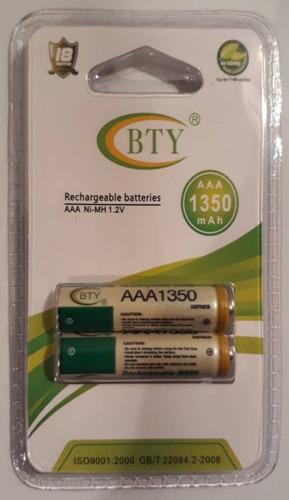 pila batería recargable aaa 1350mah triple a bty