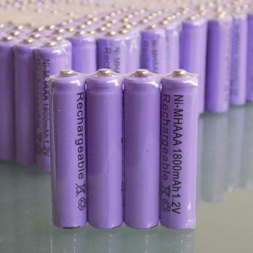 pila bateria recargable aaa 1800mah + garantia