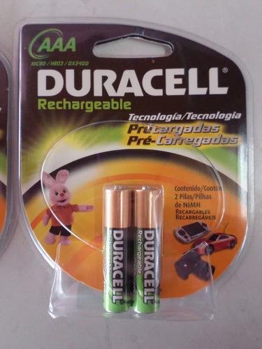 pila bateria recargable aaa duracell