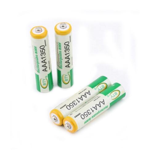 pila bateria recargable aaa marca bty 1350mah ni mh 1.2v