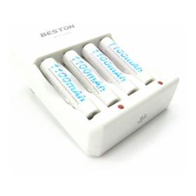 Pila Bateria Recargable Aaa X4 1100mah Cargador Beston