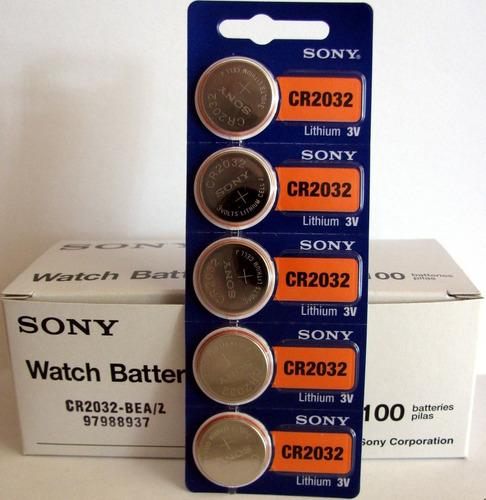 pila batería sony cr2032 blister de 5, vencimiento 2027