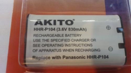 pila bateria telefono compatible con panasonic hhr-p 104