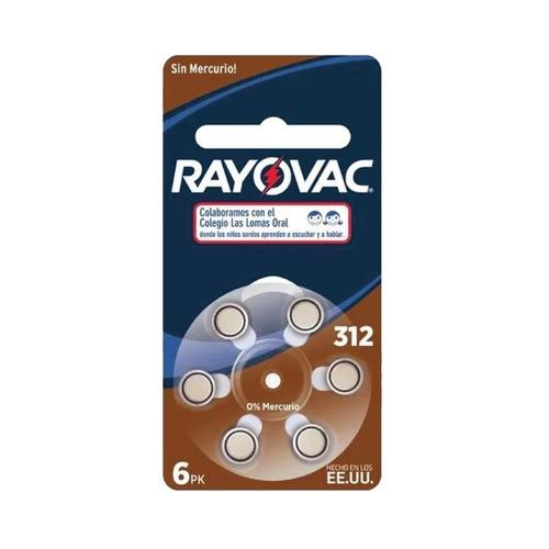 pila boton 312 rayovac x6 1,45v - factura a / b