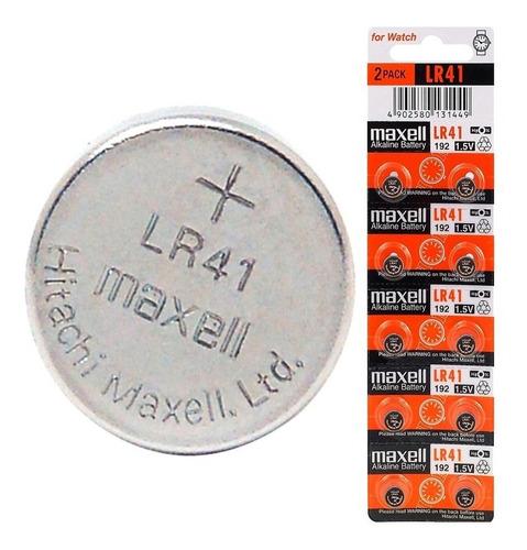 pila boton maxell lr41 lr736 192 ag3 p/ reloj - factura a b