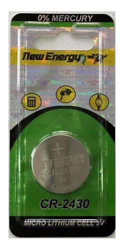 pila de reloj 3 voltios blister x 1 new energy cr2430
