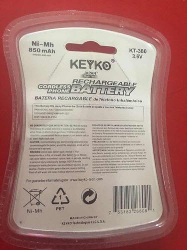 pila de teléfono inalámbrico kt-380 keyko