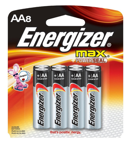 pila energizer aa alcalina e91 bp8 (precio por unidad)