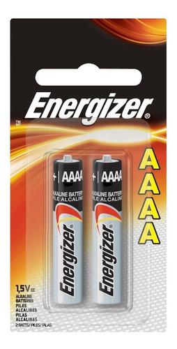 pila energizer aaaa 1.5 volts pack x2 - factura a / b