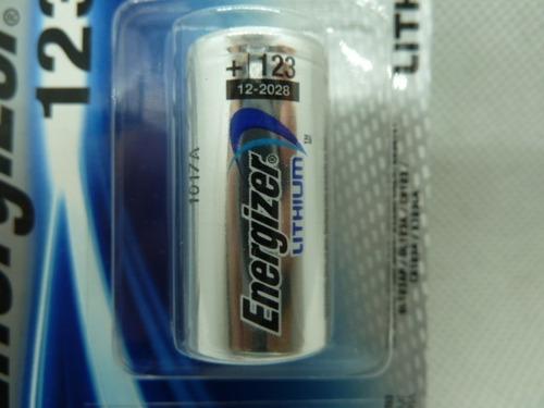 pila energizer blister 123 de 1 und litium venc 2028