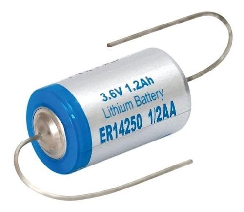 pila litio 3,6v 1/2aa er14250 14250 ls14250 con terminales