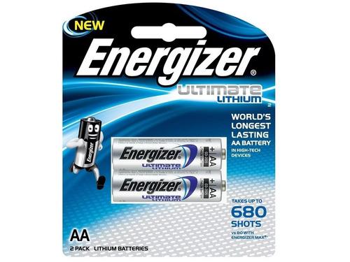 pila litio aa energizer ultimate blister x 2 bateria