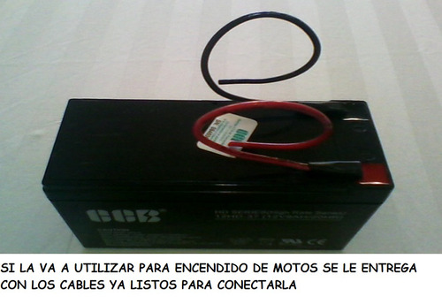 pila o bateria 12 voltios, 9 amperios, ups, alarmas, motos,