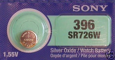 pila oxido de plata boton reloj sony 396 sr726swn 1.55v