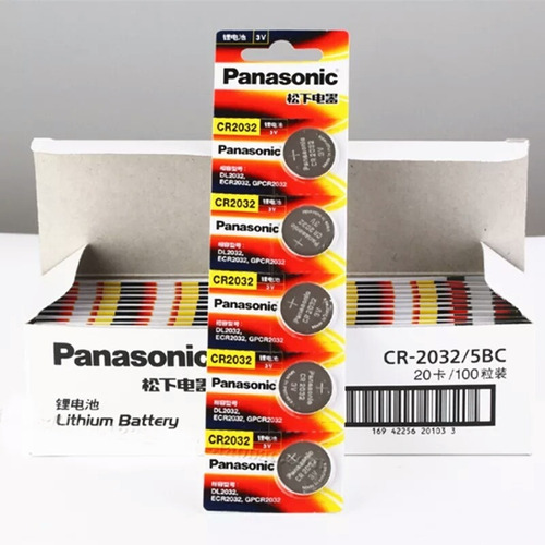 pila panasonic de litio cr 2032 original 3v tira x 5 und