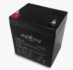 pila recargable de 12 v 4 ah  respaldo para energizador