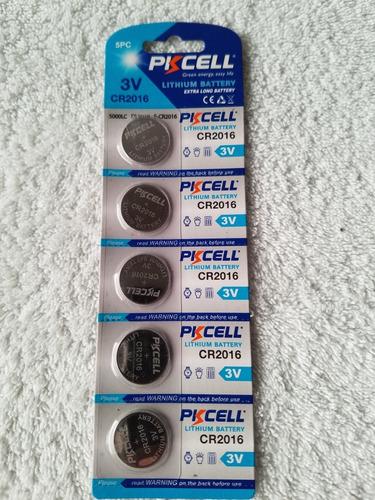 pila tipo boton cr 2032 y 2016 3v pkcell blister de 5 und.