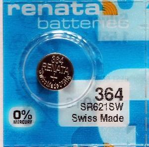 Pila tipo bot n de xido de plata marca renata modelo 364 - Pilas boton tipos ...