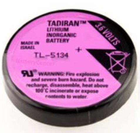 pila tl-5134 tadiran bateria litio 3.6 volts tipo botón coin