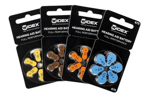 pila widex 10 - blister por 6 unidades