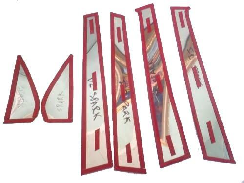 pilares boceles cromados puertas chevrolet optra 6 piezas