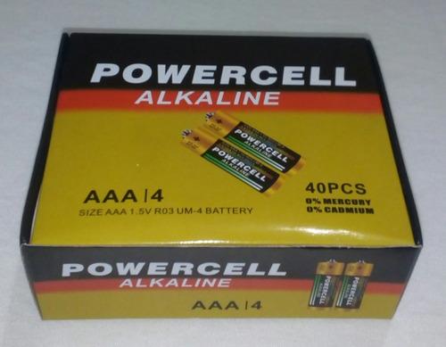 pilas aa aaa alkaline marca powercell blister de 2 pilas