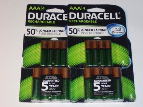pilas aa  aaa recargables duracell 1.2 volt 2500 mah