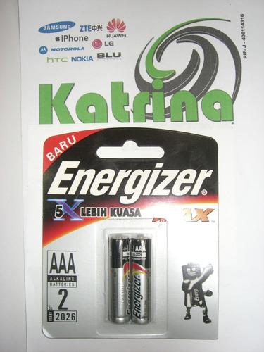 pilas aaa energizer max alcalinas blisters de 2