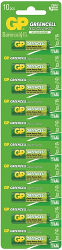 pilas aaa gp greencell tiras de 10