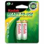 Pilas Kodak Recargable Aa Original Doble A Bateria Blister