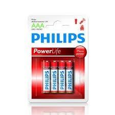 pilas alcalinas aaa philips  blister conteniendo 4 unidades