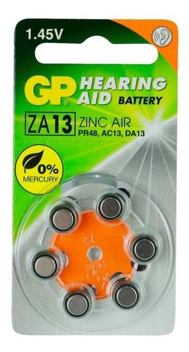 pilas audifono audiologia 13 gp batteries blister x 6 unidad