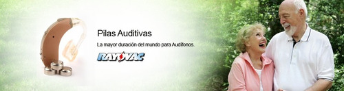 pilas audífono rayovac extra advanced 6un modelos 10-13-312