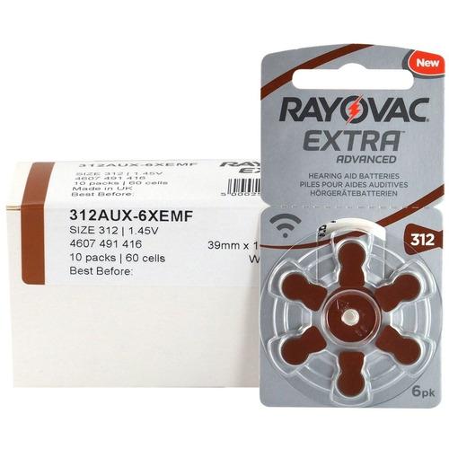 pilas audifonos rayovac nº312 pr41 caja de 60 pilas extra ad