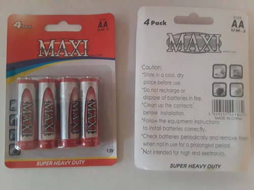 pilas baterías aa maxi caja de 12 blisters