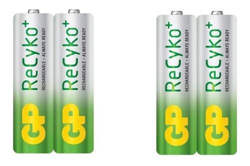 pilas baterias aa recargables 2100 mah recyco marca gp