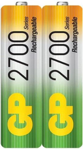 pilas baterias gp recargables pack x2 aa 2700mah 1095